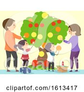 Stickman Family Wall Family Tree Illustration
