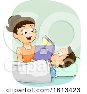 Kid Girl Sister Book Baby Illustration