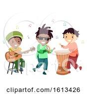 Stickman Kids Music Reggae Illustration