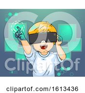 Kid Boy Virtual Reality Illustration