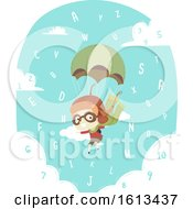 Poster, Art Print Of Kid Boy Aviator Alphabet Numbers Illustration