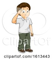 Kid Boy Salute Illustration