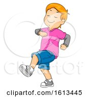 Kid Boy Strutting Illustration