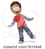 Poster, Art Print Of Kid Boy Waddle Illustration