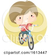Clipart Boy Riding A Bicycle