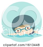 Poster, Art Print Of Clipart Boy Swimming