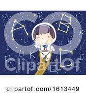 Kid Boy Astronaut Constellation Alphabet