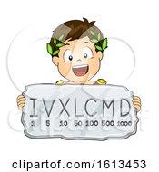 Kid Boy Roman Numeral System Illustration