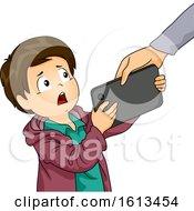 Kid Boy Screen Time Management Illustration
