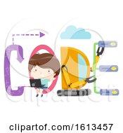 Kid Boy Code Lettering Illustration