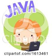 Kid Boy Java Illustration