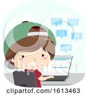 Kid Boy Programming Languages Illustration