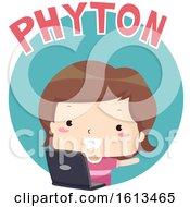 Kid Boy Python Illustration