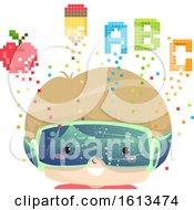 Poster, Art Print Of Kid Boy Education Pixel Art Illustration
