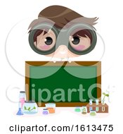 Kid Boy Scientist Board Illustration