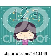 Kid Girl Soldering Iron 123 Illustration