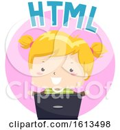 Kid Girl HTML Illustration