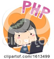Kid Girl PHP Illustration