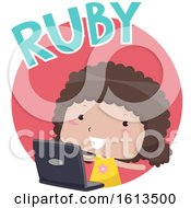 Kid Girl Ruby Illustration