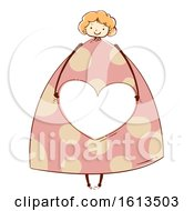 Girl Design Heart Share Frame Illustration