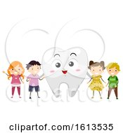Stickman Kids Tooth Mascot Illustration