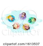 Poster, Art Print Of Stickman Kids Pool Float Illustration