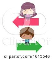 Kids Arrow Right Left Illustration