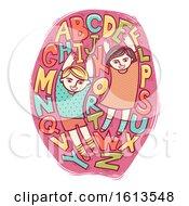 Kids Alphabet Design Folk Art Illustration