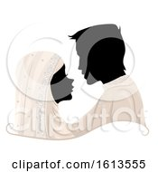Poster, Art Print Of Silhouette Couple Muslim Wedding Illustration