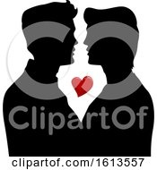 Silhouette Men Gay Couple Illustration