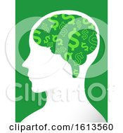 Man Profile Brain Dollars Illustration by BNP Design Studio