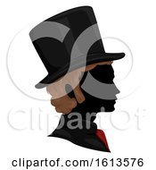Silhouette Man Victorian Hair Hat Illustration
