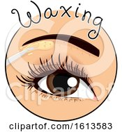 Eyebrow Waxing Icon Illustration