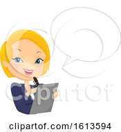 Girl Organiser Speech Bubble Illustration