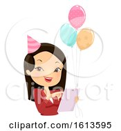 Poster, Art Print Of Girl Party Event Coordinator Illustration