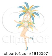 Girl Samba Outfit Illustration