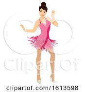 Girl Ballroom Dancer Illustration