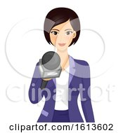 Girl Reporter Interview Illustration