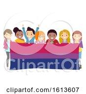 Stickman People Bisexual Flag Illustration