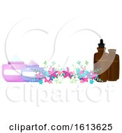 Poster, Art Print Of Flower And Beauty Product Banner