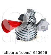 November 10th, 2018: Clipart Of A 3d Zebra On A White Background Royalty Free Illustration by Julos