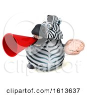 November 9th, 2018: Clipart Of A 3d Zebra On A White Background Royalty Free Illustration by Julos