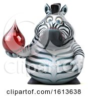 Clipart Of A 3d Zebra On A White Background Royalty Free Illustration
