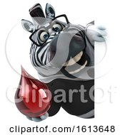 Clipart Of A 3d Business Zebra On A White Background Royalty Free Illustration by Julos