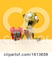 November 10th, 2018: Clipart Of A 3d Zombie On A Yellow Background Royalty Free Illustration by Julos