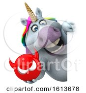 November 10th, 2018: Clipart Of A 3d Chubby Unicorn On A White Background Royalty Free Illustration by Julos