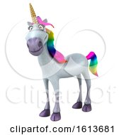 Clipart Of A 3d Unicorn On A White Background Royalty Free Illustration by Julos