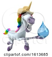 November 10th, 2018: Clipart Of A 3d Unicorn On A White Background Royalty Free Illustration by Julos