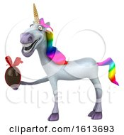Clipart Of A 3d Unicorn On A White Background Royalty Free Illustration