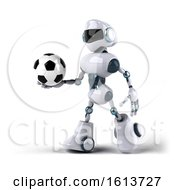 November 12th, 2018: Clipart Of A 3d Blue And White Robot On A White Background Royalty Free Illustration by Julos